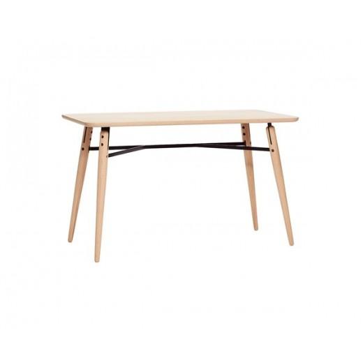 Stort bord i egetræ og metal fra Hübsch-31