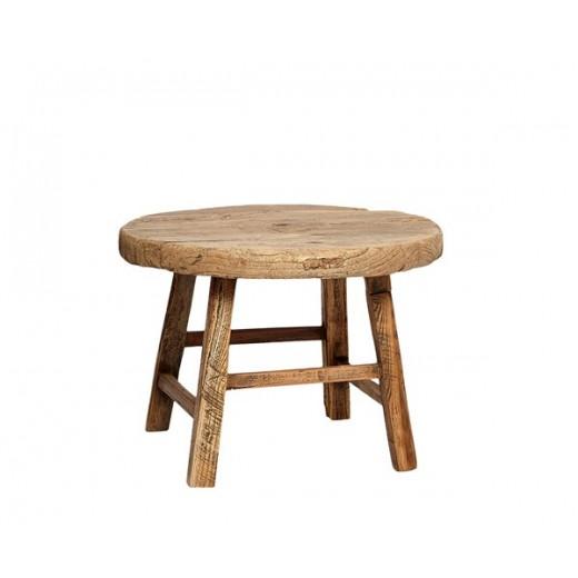 Lille rundt bord i elmetræ fra Hübsch-31