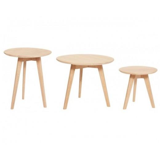 3 borde i lyst egetræ fra Hübsch-31