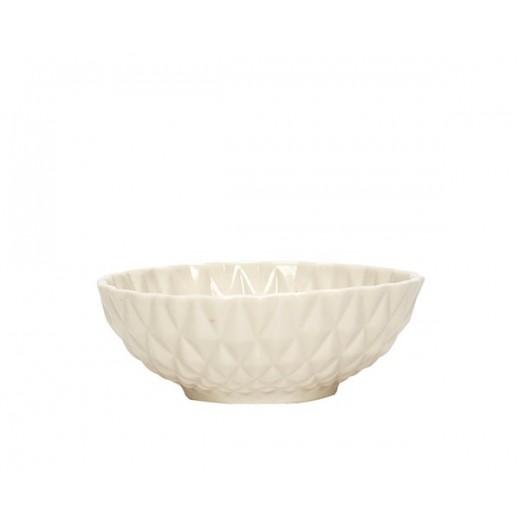 Skål i porcelæn med mønster fra Hübsch-31