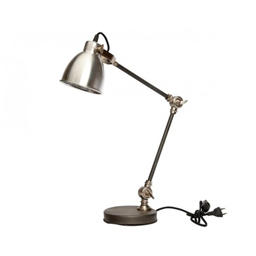 Bordlampe i aluminium og jern fra Hübsch UDSTILLINGSMODEL-31