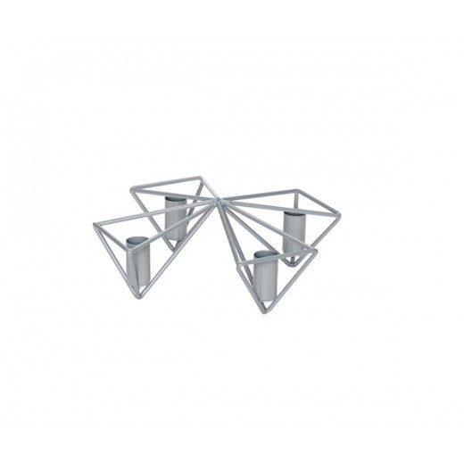 Rund lysestage i gråt metal til 4 lys fra Hübsch-31