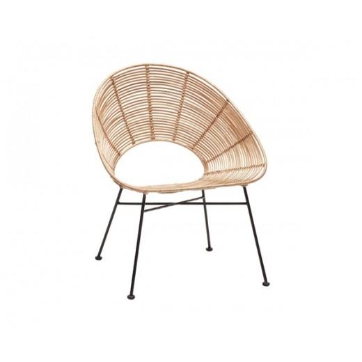 Rund stol i natur rattan fra Hübsch-31