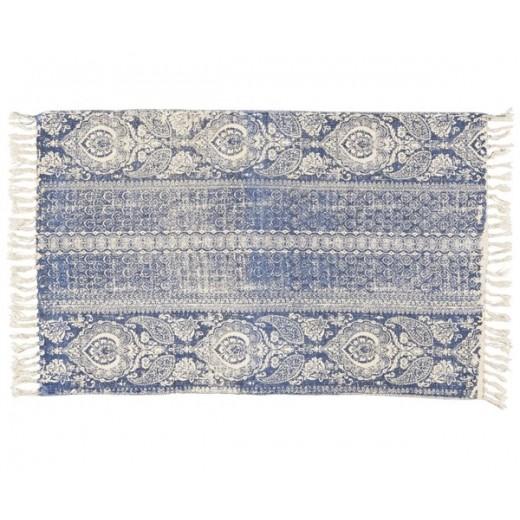 Tæppe med støvet blåt mønster fra Ib Laursen-31