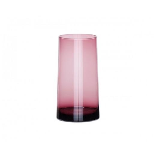 Glasvase i rosa glas-31