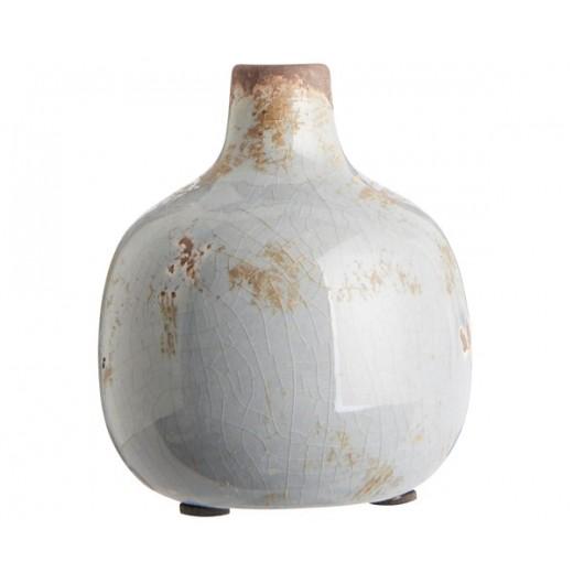"""Glaseret vase med smal hals """"Tunis"""" fra Ib Laursen-31"""
