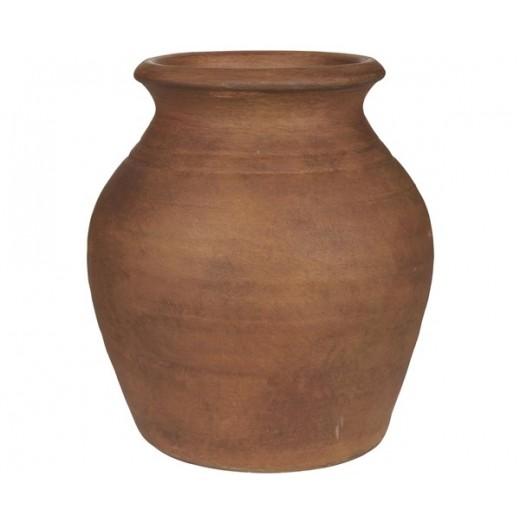 Vase med smal kant i terra kotta fra Ib Laursen-31