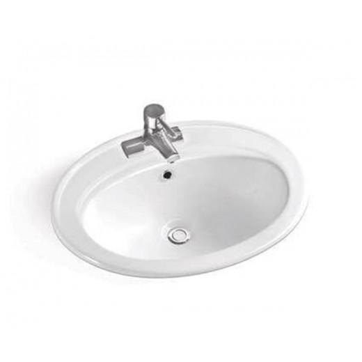 Drop nedfældningsvask i hvid fra Cassøe-31
