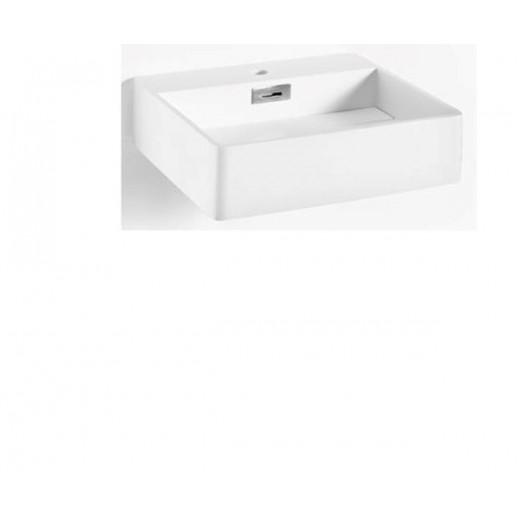 Solid surface vask i hvid fra Cassøe 48x43x12cm-31