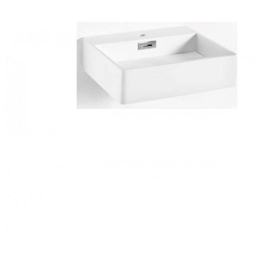 Solid surface vask i hvid fra Cassøe 68x43x12cm-31