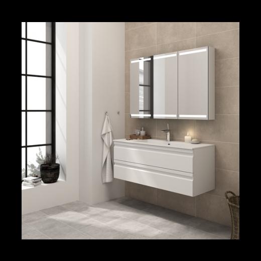 Underskab 80x48cm, inklusiv kantate vask, 3 varianter: Hvid/Sort/Ceder Grey, fra Dansani-31