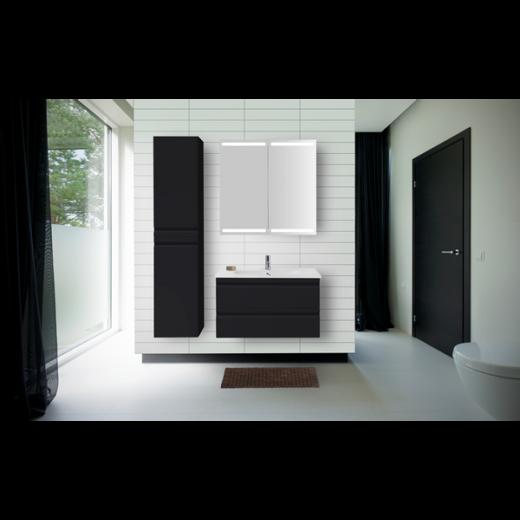 Underskab 100x48cm, inklusiv kantate vask, 3 varianter: Hvid/Sort/Ceder Grey, fra Dansani-31