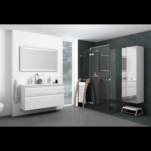 Underskab 120x64cm, inklusiv kantate vask, 3 varianter Hvid/Sort/Ceder Grey, fra Dansani-31