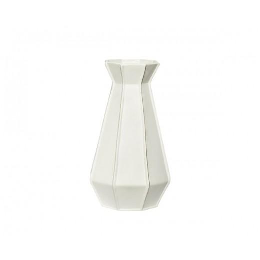 Vase i hvid keramik i størrelse small, fra Hübsch-31
