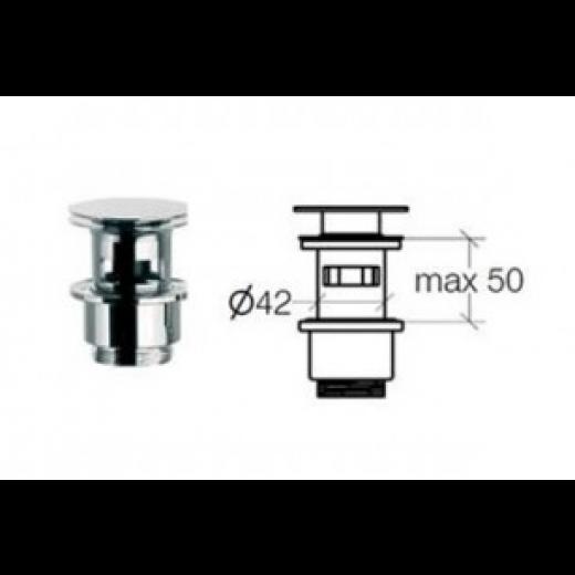 Klik-ventil med overløb Krom 50 80 mm-31