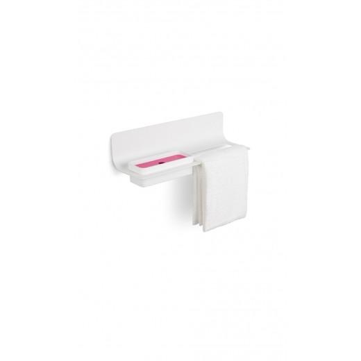 Håndklæde / tilbehørsholder Hvid Sort-31