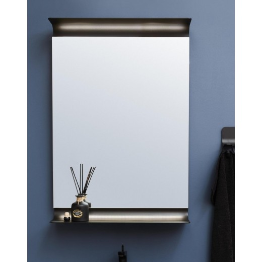 Curva spejl Hvid Sort-31