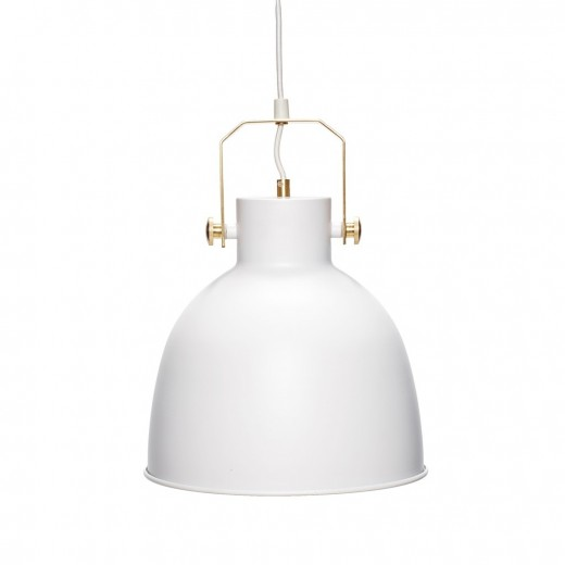 Lampe i hvid/guld fra Hübsch-31