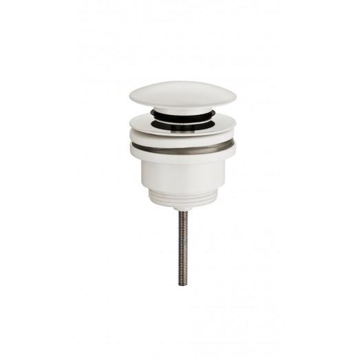 Universal klik-ventil i mat hvid både med og uden overløb-31