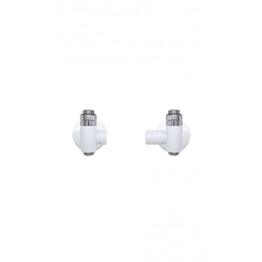 Combi ventilsæt til både el-og centralvarme Krom Hvid-31