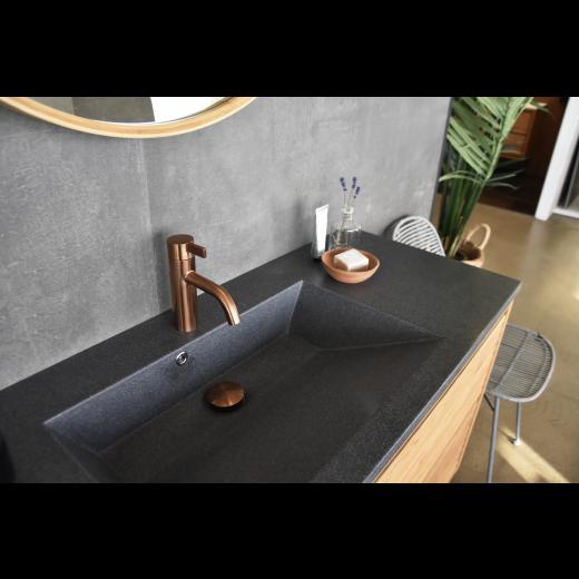 Noba W4 badeværelses armatur i børstet kobber fra Cassøe-31