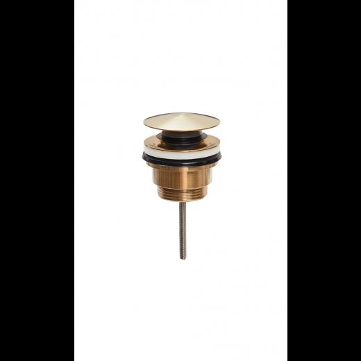 Universal klik-ventil både med og uden overløb Børstet messing-31
