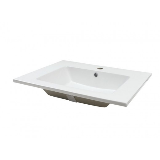 POR 51 Heldækkende porcelænsvask Hvid-31