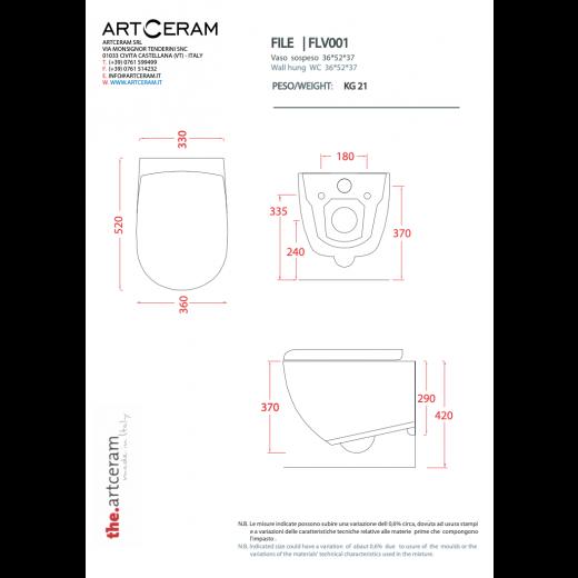 FILE væghængt toilet Hvid (sæde og skål sælges separat)-31