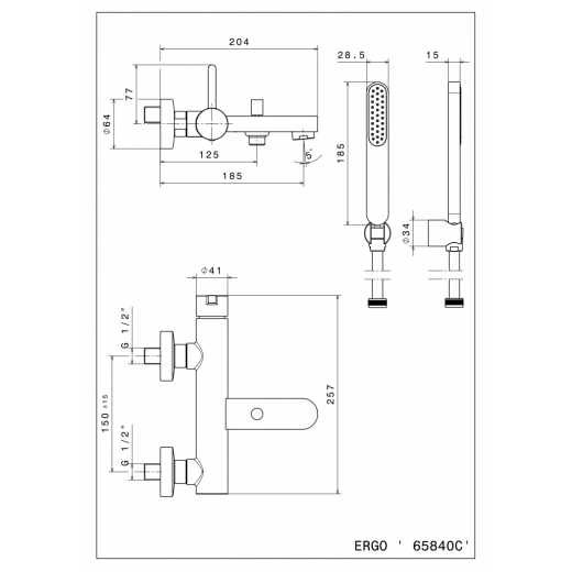 Komplet kararmatur Mat sort-31