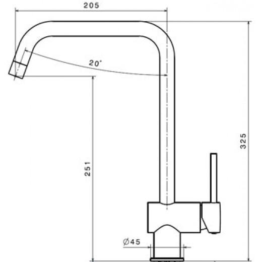 Newform XT 4324 køkkenarmatur Krom-31