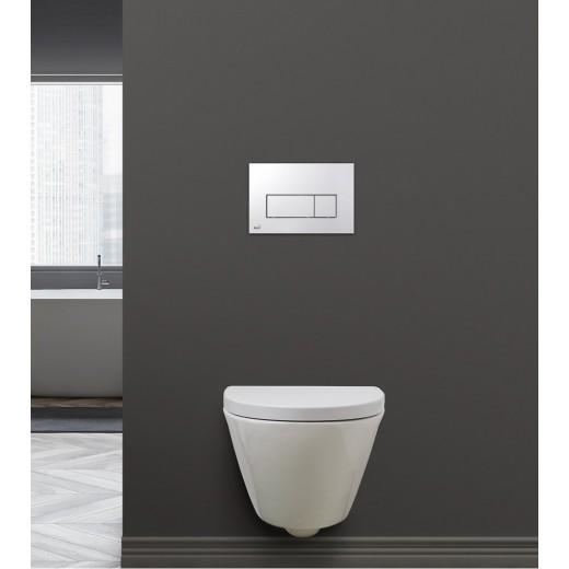 SPRING væghængt toilet Hvid Sort (sæde og skål sælges separat)-31