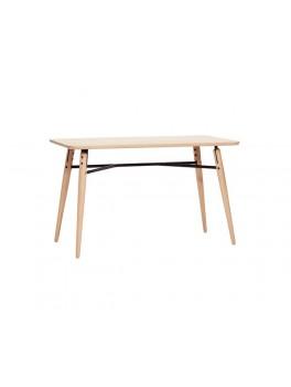 Stort bord i egetræ og metal fra Hübsch-20
