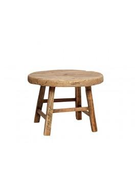 Lille rundt bord i elmetræ fra Hübsch-20
