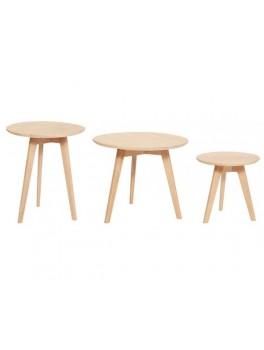 3 borde i lyst egetræ fra Hübsch-20