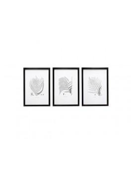 3 store fotorammer i sort med indhold fra Hübsch-20