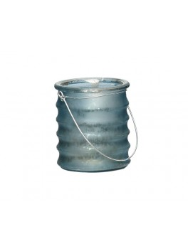 Fyrfadsglas med riller og hank i mørkeblå fra Ib Laursen-20