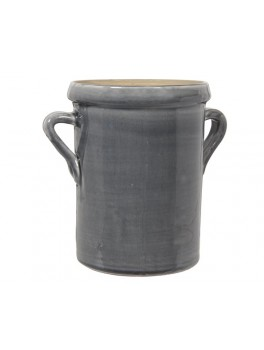 Urtepotte skjuler med ører i mørkegrå keramik str small fra Ib Laursen-20