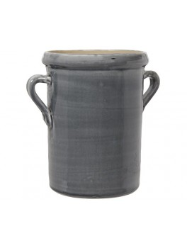 Urtepotte skjuler med ører i mørkegrå keramik str large fra Ib Laursen-20