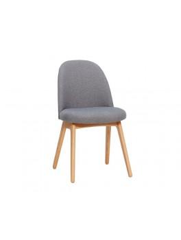 Enkelt stol i mørkegråt stof med egetræsben fra Hübsch-20