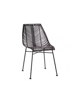 Spisebordsstol i sortfarvet rattan fra Hübsch-20