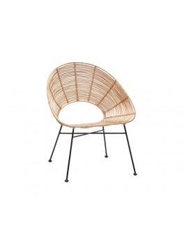 Rund stol i natur rattan fra Hübsch-20