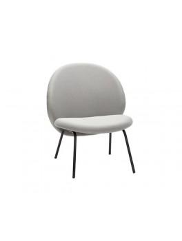 Lounge stol i lysegrå med sorte metal ben fra Hübsch-20