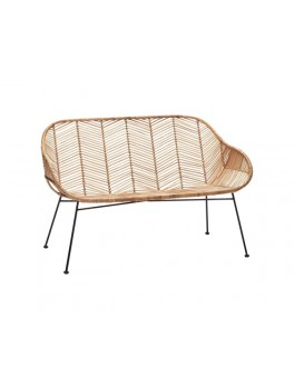 Sofa i natur rattan med metal ben fra Hübsch-20