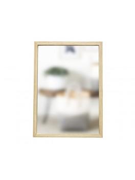 Firkantet spejl i lyst egetræ fra Hübsch i str. Small, 35 cm x 50 cm-20