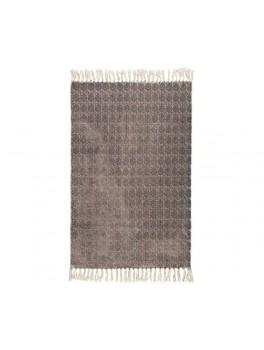 """Tæppe med sort tryk af mærket """"Malva"""" fra Ib Laursen-20"""