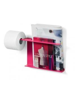 Papir og magasinholder i lyserød fra Cassøe-20
