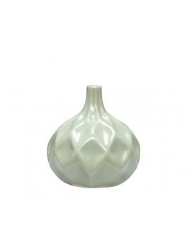 Vase i hvid keramik med mønster fra Hübsch-20