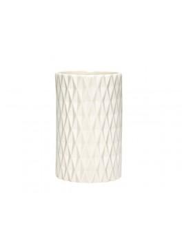 Vase i hvid porcelæn med mønster fra Hübsch-20