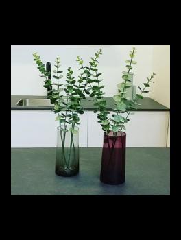 2 glas vaser, en i rosa, en i grå fra Hübsch-20