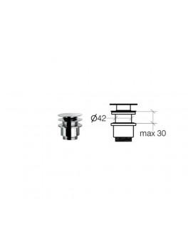 Klik-ventil til vaske uden overløb fra Cassøe 30 mm-20